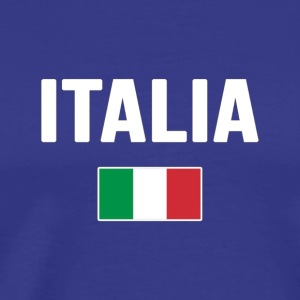 ITALIA T shirt Italian National Country Flag Tee I - Men's Premium T-Shirt
