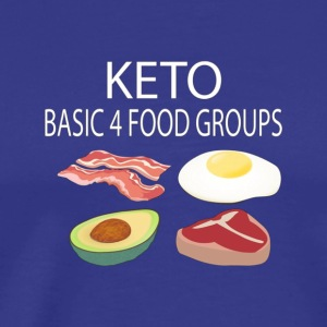 Keto Diet Low Carb High Fat 4 Food Group Funny Gif - Men's Premium T-Shirt