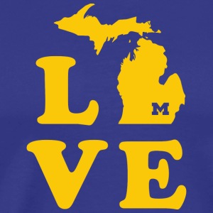 Love for A-maize-ng Michigan - Men's Premium T-Shirt