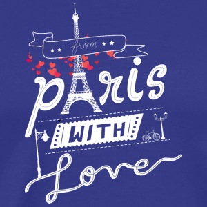 from paris with love white - Men's Premium T-Shirt