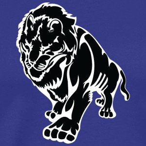 Walking_big_lion_black - Men's Premium T-Shirt