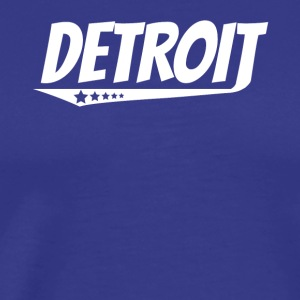 Detroit Retro Comic Book Style Logo - Men's Premium T-Shirt