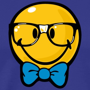 SmileyWorld Preppy Boy with Bow Tie - Men's Premium T-Shirt