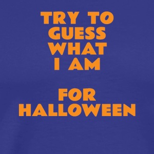 try to guess what i am for halloween - Men's Premium T-Shirt