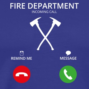 Call Mobile Anruf firefighter feuerwehr - Men's Premium T-Shirt