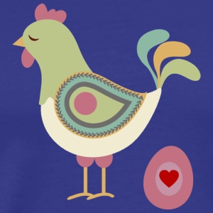 Hen with egg - Men's Premium T-Shirt