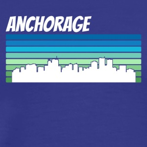 Retro Anchorage Skyline - Men's Premium T-Shirt