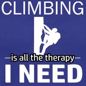 Climbing is my therapy - Men's Premium T-Shirt