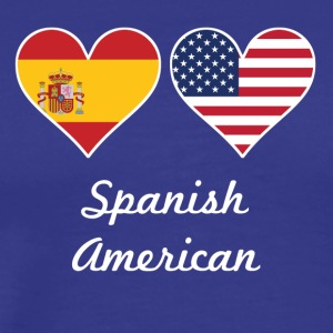 Spanish American Flag Hearts - Men's Premium T-Shirt