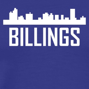 Billings Montana City Skyline - Men's Premium T-Shirt