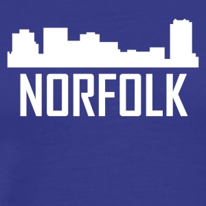 Norfolk Virginia City Skyline - Men's Premium T-Shirt