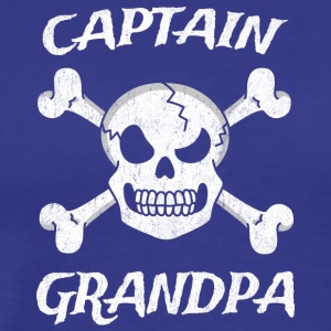 Captain Grandpa Funny Pirate Fun Halloween Costume - Men's Premium T-Shirt