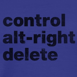 Control Alt-Right Delete Black - Men's Premium T-Shirt