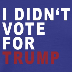 I DIDN'T VOTE - Men's Premium T-Shirt