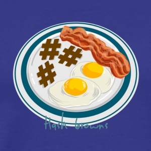 Hashtag Breakfast Plate - Men's Premium T-Shirt