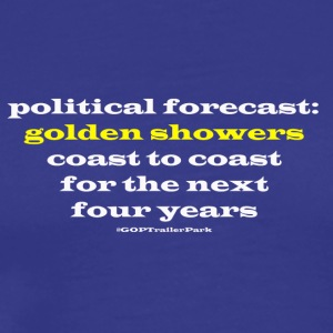 Political forecast: Golden Showers - Men's Premium T-Shirt