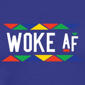 Woke af - Tribal Design (White Letters) - Men's Premium T-Shirt