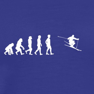 EVOLUTION skiing ski - Men's Premium T-Shirt