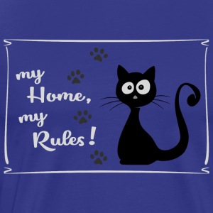 cat lovers home rules cut kitten boss - Men's Premium T-Shirt