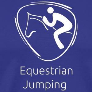 Equestrian_jumping_white - Men's Premium T-Shirt