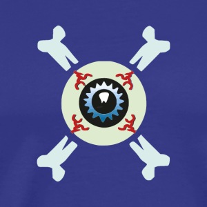 Eyeball and crossbone - Men's Premium T-Shirt