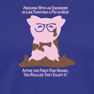 Engineer Pig in Mud - Men's Premium T-Shirt