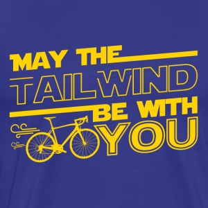 May the Tailwind Be with You Funny Strava Cycling - Men's Premium T-Shirt