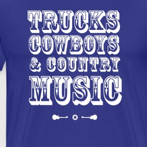 trucks cowboys Country Music Guitar Party beer lol - Men's Premium T-Shirt