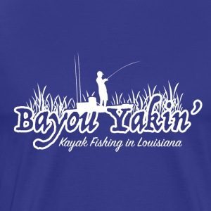 Bayou Yakin' Logo in White - Men's Premium T-Shirt