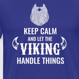 Keep calm Viking tshirt - Men's Premium T-Shirt