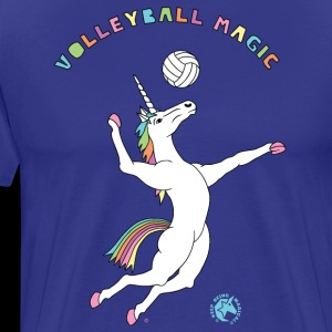 Volleyball Magic Unicorn Outline