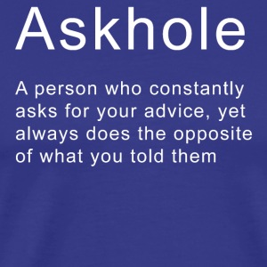 Funny Sarcastic Quote Askhole