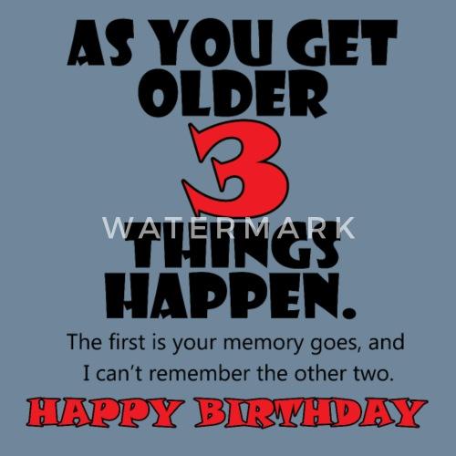 3 THINGS Happy Birthday Men's Premium T-Shirt
