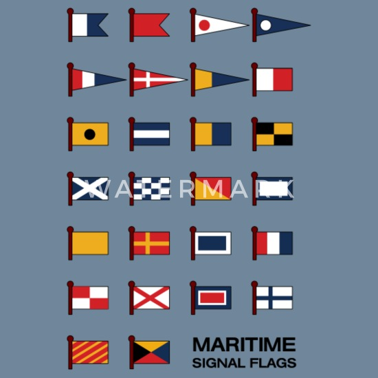 "Marine Code Naval Signal Flag LARGE FLAG Nautical // Boat 16/"" X 28/"" L"