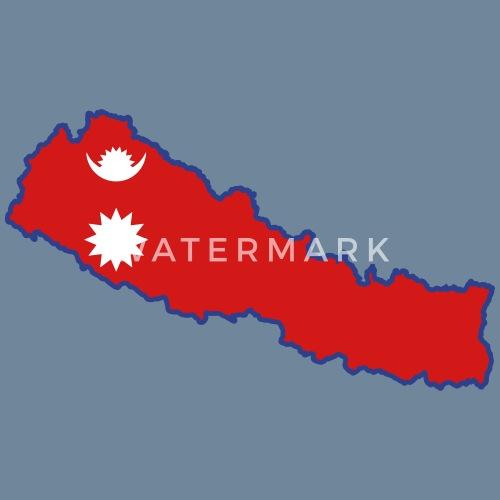 Nepal Map Flag Men\'s Premium T-Shirt | Spreadshirt