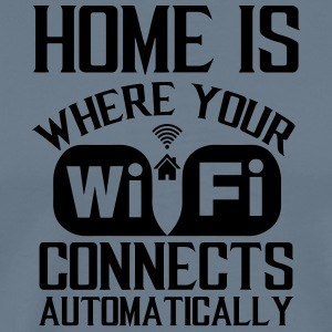 home_is_wifi - Men's Premium T-Shirt