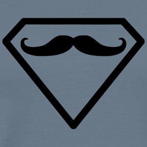 Superman moustache beard - Men's Premium T-Shirt