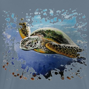 Sea turtle painting d