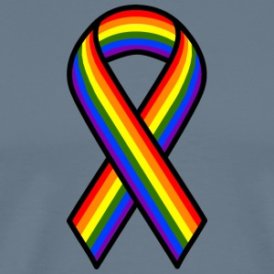 GAY AND LEBIAN LBGTQ RIBBON PARADE - Men's Premium T-Shirt