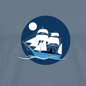 Night sailboat - Men's Premium T-Shirt