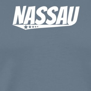 Nassau Retro Comic Book Style Logo - Men's Premium T-Shirt