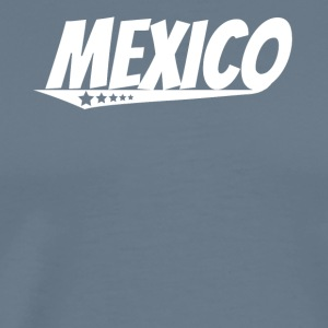 Mexico Retro Comic Book Style Logo Mexican - Men's Premium T-Shirt