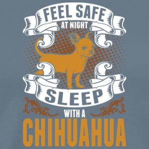 Feel Safe At Night Sleep With Chihuahua T Shirt - Men's Premium T-Shirt