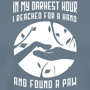 I reached for a hand and found a paw shirt - Men's Premium T-Shirt
