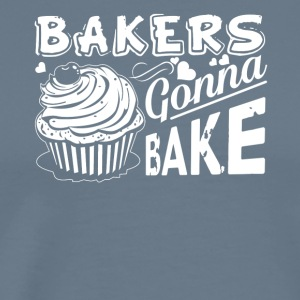 Bakers Gonna Bake Cupcake Cake Baker Tee Shirt - Men's Premium T-Shirt