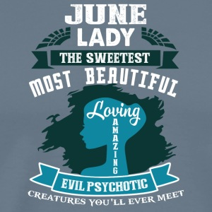June lady The sweetest Most beautiful - Men's Premium T-Shirt
