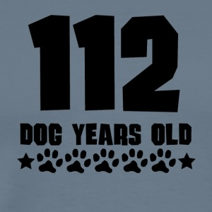 112 Dog Years Old Funny 16th Birthday - Men's Premium T-Shirt