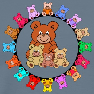 ring of teddies - Men's Premium T-Shirt