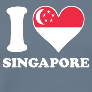 I Love Singapore Singaporean Flag Heart - Men's Premium T-Shirt