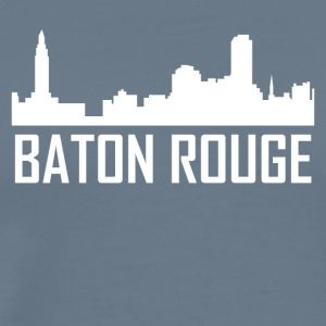 Baton Rouge Louisiana City Skyline - Men's Premium T-Shirt